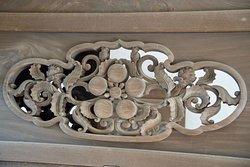 Oyama Shrine Woodcarving with Maeda-clan symbol
