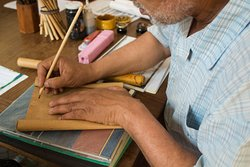 Calligraphy workshop- beauty, patience and devotion.