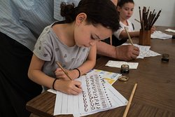 Calligraphy workshop - perfect for all ages, from young children to the young at heart.