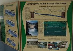 The Mississippi River Navigation Dams -- the system enables river navigation from St. Paul MN to IL -- and 800' elevation change.