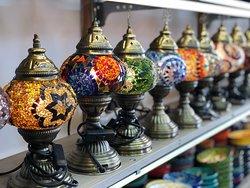 Hand made mosaic lamp