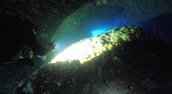 Sometimes you need to swim through narrow passages - not particularly difficult, but definitely making the dive more exciting!
