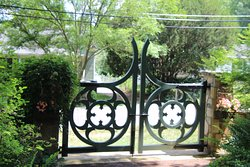 the pretty hand made gate