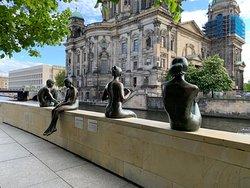 Three Girls One Boy Statue