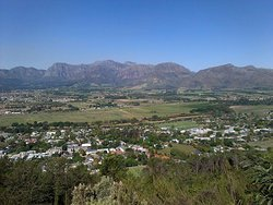 This photo was taken after lunch when we drove up the Paarl Mountain road above Blacksmith and I took the picture of the Valley from there