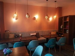 Indoor tables, cosy meals and comfortable seating