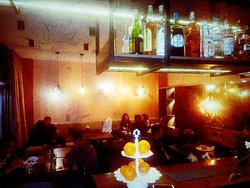 Comfy seating and eating, great food, nice atmosphere