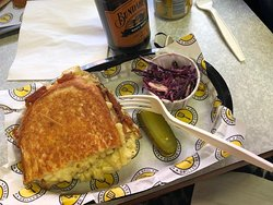 The best mac and cheese grilled cheese in the north.