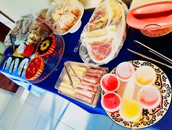Mesa de nosso café da manhã