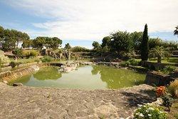 le jardin et son plan d'eau