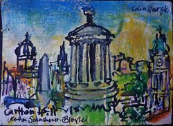 St Giles (links), Foto meiner Skizze vom Calton  Hill aus