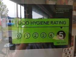 We gained the highest food&safety hygiene rating of 5 stars.