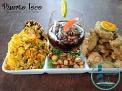TRILOCO (arroz con mariscos + Ceviche de c. negras + chicharrón de pescado)