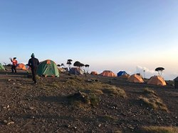 The beautiful views of Shira Cave camp