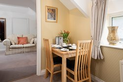GROOMS LOFT- Breakfast is served in your own dining area.