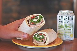 Enjoy a wrap and a cold bevie at BML Cafe