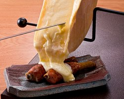 grilled rlamb with raclette cheese!(^^)!