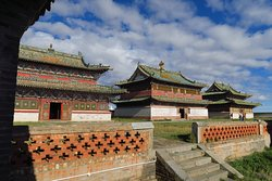 A set of buildings. Each of these is still being used, it is a functioning monastery