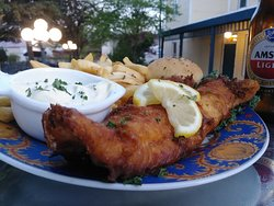 A flaky and tender walleye hand battered and fried up fresh at the Thayer