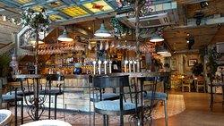 The very ornate bar area on the ground floor.
