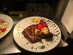 Jamaican Rump with Grilled Pineapple and Salsa