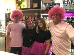 Wear pink for cancer - great support from our customers in helping us raise money for a great cause