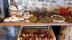 Open buffet breakfast for group booking.