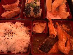 Taikichi house special bento box  Seafood plate