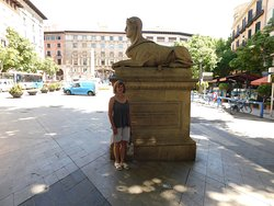 One of 4 Sphinxes in Passeig des Born