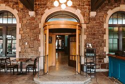 Our tap room was once the entrance to a historic railway hotel