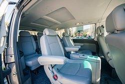 Mercedes Benz Viano, 6+ 1 seats (2+2+3 seats interior view)