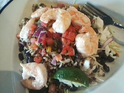 I had the Quinoa Kale Salad, with shrimp, but without dressing. It was excellent! I don't think the dressing was needed!