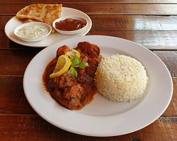 This weeks special Chicken Balti served with Steamed Rice, Roti, Mango Chutney & Raita 230 baht
