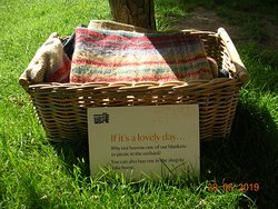 Borrow a picnic blanket (Little Moreton Hall)