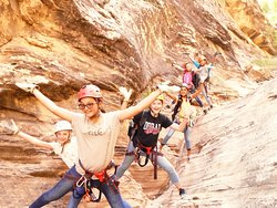 Family Canyoneering in the Pine Valley Mountains