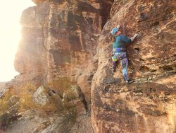 Rock climbing in the Green Valley Gap