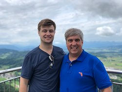 Son and I in the clouds