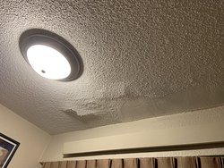 bubbling ceiling plaster from water damage