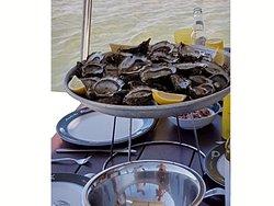 Les bonnes huîtres du Bassin d'Arcachon.