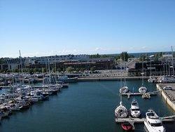 Blick auf den Jachthafen vom Balkon