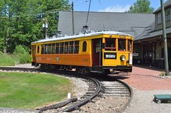 This is the typical Trolley that provides rides for visitors.