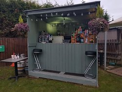 Our outdoor bar, open in the summer