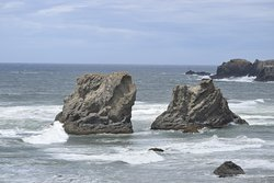 Sea stacks.