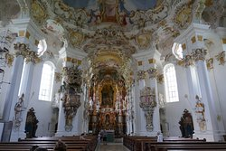The interior of Wies Church