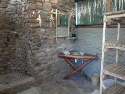 Timbila camp outside bathroom
