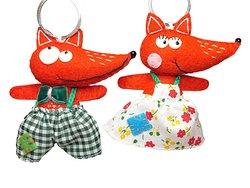 Delightful handmade Fox keyrings