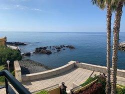 Balcony view, second floor, Porto Santa Maria Hotel, Funchal, Madeira