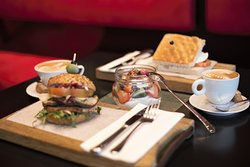 Sip an espresso or enjoy a lunchtime panini at the Hilton Amsterdam hotel.