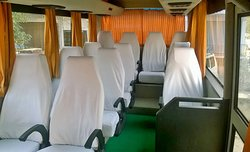Interer of luxury 12 seater ac luxury coach