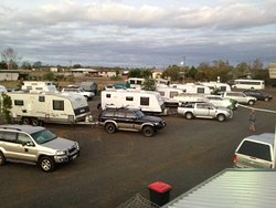 All drive through caravan sites with power or without power    Book ahead to save a spot   We fill up very quickly
